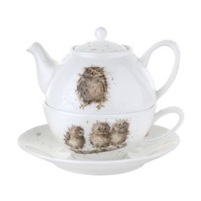 Wrendale Tea For One with Saucer (Owls)